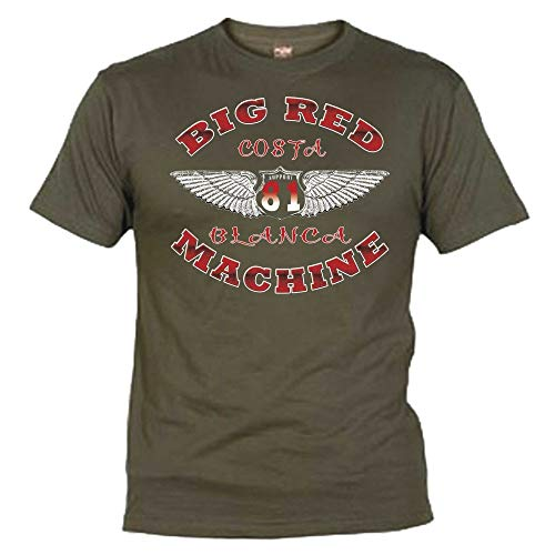 Hells Angels WorldWide Support Store / Big Red Machine World - Hells Angels Wings Olive T-Shirt Support81 Big Red Machine