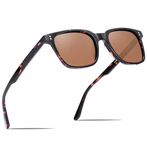 Carfia UV400 Schutz Sonnenbrille Damen Polarisierte Fahrenbrille, Acetatrahmen