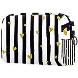 Bolsa de aseo cosmética de viaje organizador de maquillaje bolsa de lavado con cremallera dibujado a mano patrón de corona para accesorios de viaje esenciales