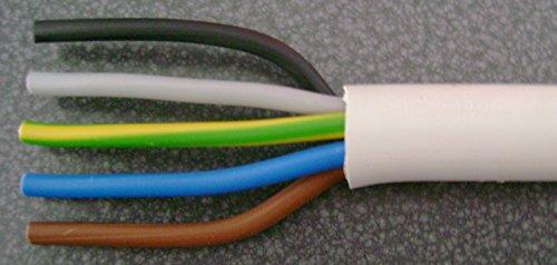 Innenkabel NYM-J 5x16 qmm (Preis für einen Meter,Lieferung erfolgt in einer Länge)