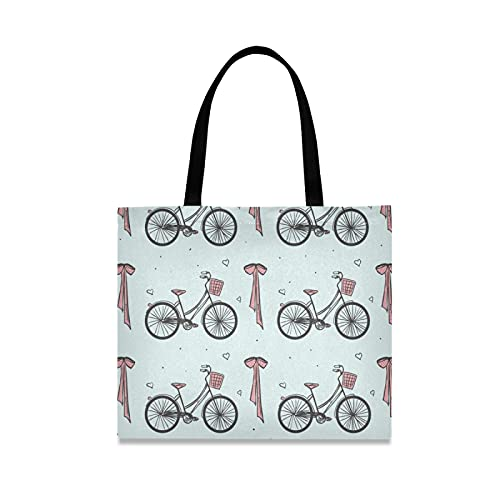 LDIYEU Paris Bicicleta Vintage Bolsa Compra Reutilizables Bolsas de Mano para Trabajo...