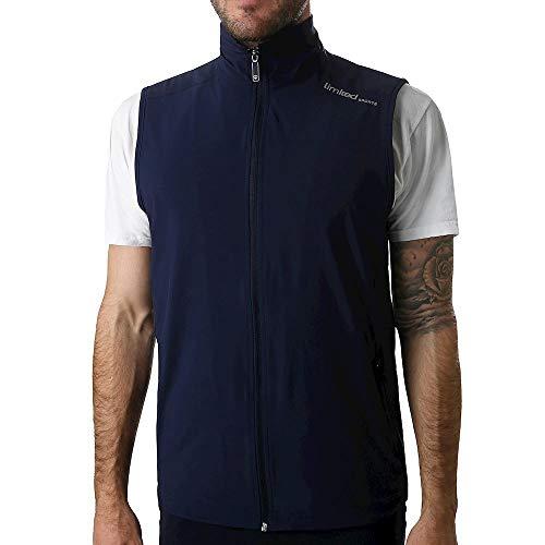 Limited Sports heren sports, klassiek vest donkerblauw, zilver, XL bovenkleding