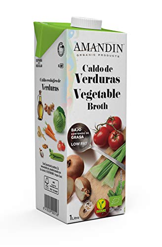 Amandin Caldo de Verduras - Paquete de 6 x 1000 ml - Total: