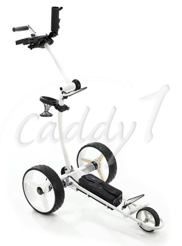 Caddy1 Elektro Golf Trolley 700 in Weiß mit 2 x 250 W Motor Lithium Akku