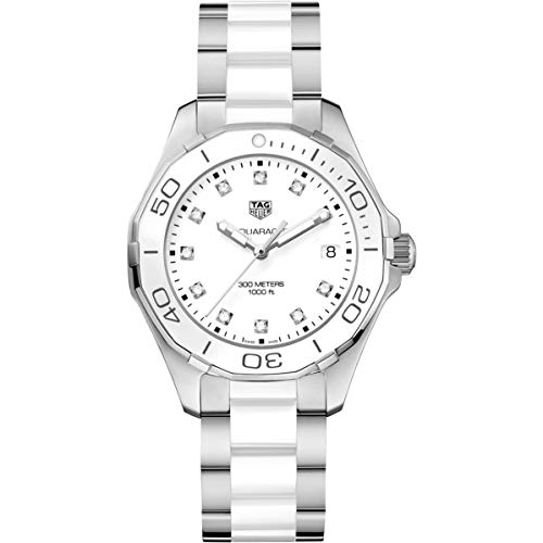 TAG Heuer Aquaracer Damen-Armbanduhr Diamant 35mm Batterie WAY131D.BA0914