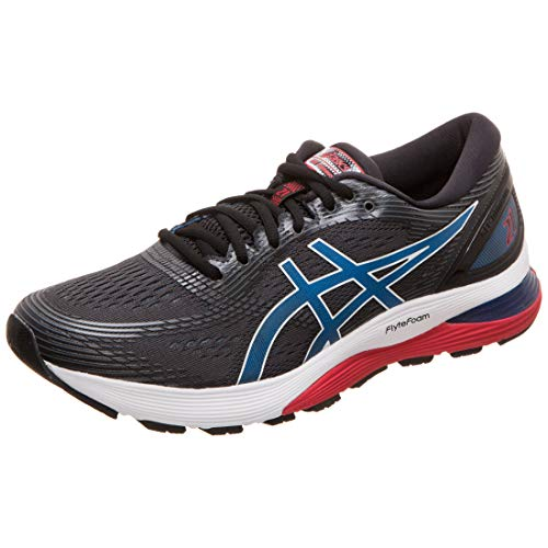 Asics Gel-Nimbus 21, Zapatillas de Running Hombre, Negro (Black/Electric Blue 005), 44 EU