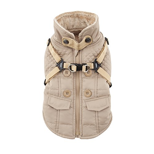 Puppia Wilkes Winter Fleece Vest, Klein, Beige