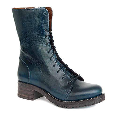 Brako Stiefel Boots 8470 Bolero Marino Military Leder blau Reißverschluss (Numeric_42)