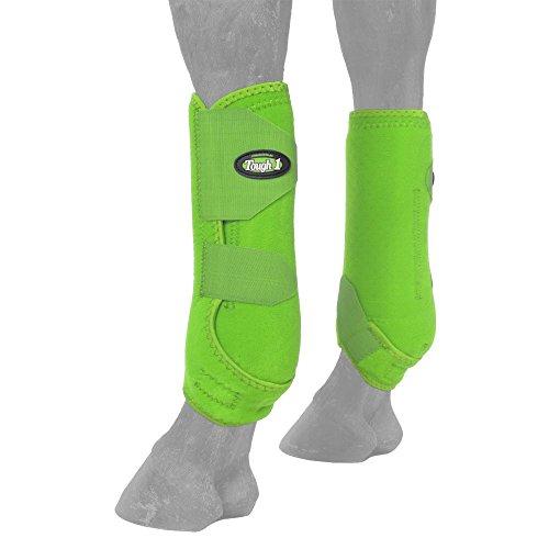 Tough-1 Extreme Ventilado Botas Esportivas Diâmetro, Neon Green, Medium
