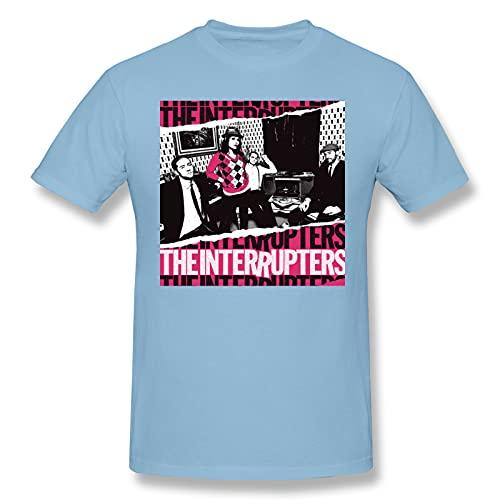 The Interrupters Men's Basic Short Sleeve T-Shirt Sky Blue 6X-Large