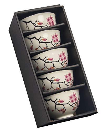 AAF Nommel®, Matcha - Reisschalen 5er Set Sakura Kirschblüte im schönen Geschenkkarton, Nr. 069