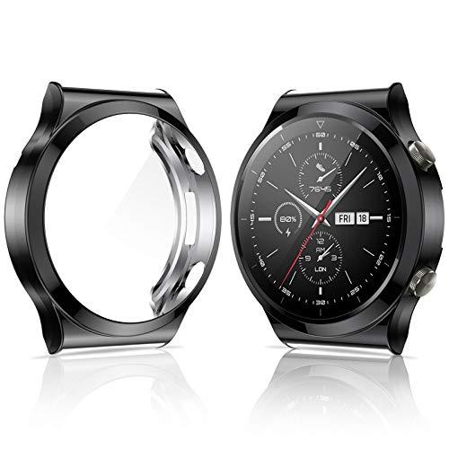 KIMILAR Hülle Kompatibel mit Huawei Watch GT 2 Pro Schutzhülle (Nicht für Watch GT/GT 2/GT 2e/GT Active), [2 Stücke] Vollständige Abdeckung Weiche TPU Schutzfolie Kompatibel mit Huawei Watch GT2 Pro