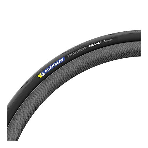 Michelin Pneu 700X25 Power Road TUBELESS Velo Adulte Unisexe, Noir, 700X25C
