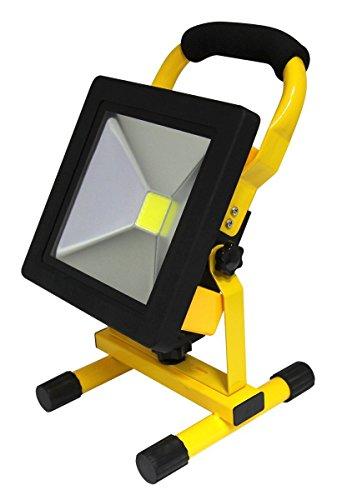 20W Portable LED Work Light Cordless Rechargeable IP65 12v LED Light Hand Lamp, Outdoor Flood Lights Daylight White