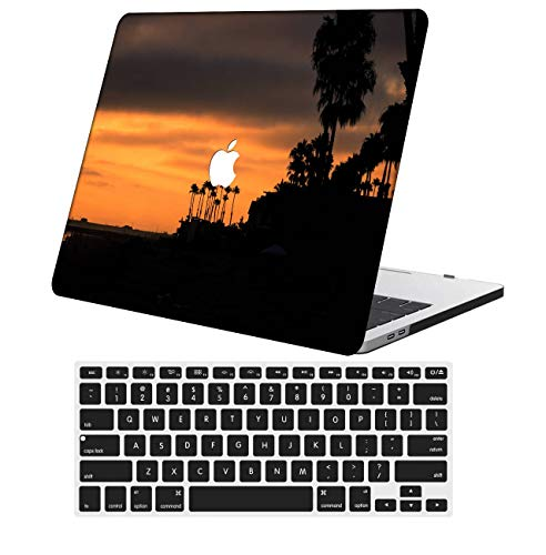 NKDCase Case for MacBook Air 13 inch Model A1932 Cut Out Design,Plastic Ultra Slim Light Hard Case Keyboard Cover Compatible MacBook Air 13 inchRelease with Retina Display Touch ID,Red Series 0302
