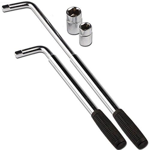 DWT-GERMANY 100441 - Llave telescópica para tuercas de rueda (5 piezas, 17 mm, 19 mm, 21 mm, 23 mm)