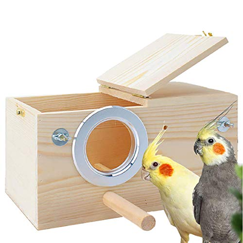 Parakeet Nest Box Budgie Nesting House Cockatiel Breeding Parrots Mating Box for...
