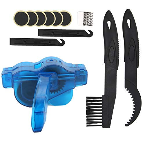 Keenso Bike Washing Tools, ABS Plastic Muti-function Bicycle Chain Scrubber Brush Cleaning Kit Bike Tire Repair Set Maintenance Accessory
