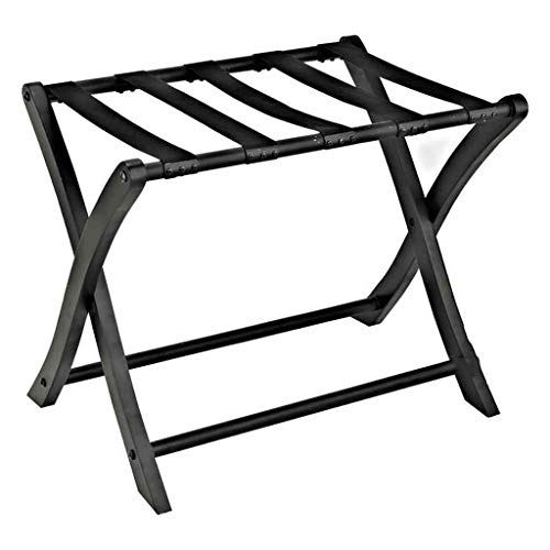 Amazing Deal ZCCXLJ Hotel Guest Room Solid Wood Luggage Rack Family Bedroom Shelf Practical Foldable...