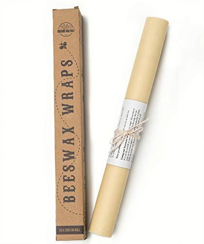 Bijenwas Food Wrap Roll, X Large(13x78 Inch Long), doordrenkt met natuurlijke bijenwas, herbruikbare vormbare op maat gemaakte verpakking voor sandwich, kaas of fruit, ongedrukt, geurvrij, biologisch afbreekbaar