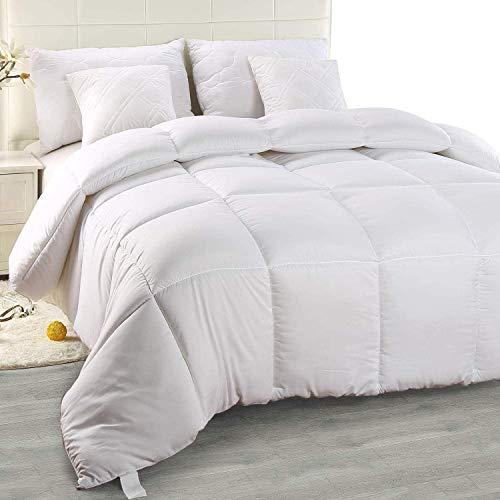 Utopia Bedding Edredón de Fibra 155x220 cm, Fibra Hueca siliconada, 1260 gramo (Blanco, Cama 80/90-155 x 220 cm)