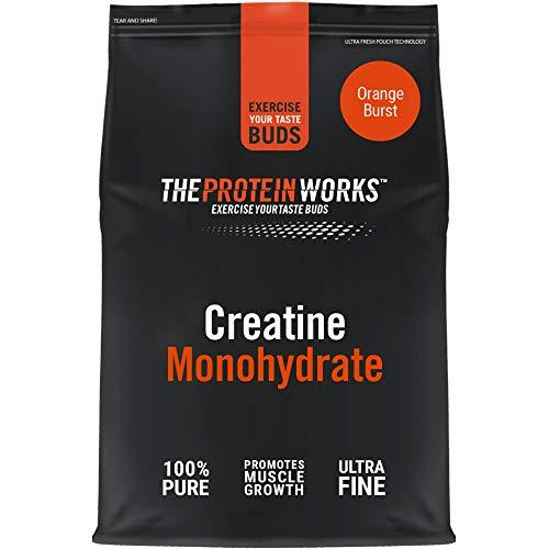 THE PROTEIN WORKS Creatina Monoidrato in Polvere | 100% Pura e Fine | Integratore di Livello Premium per la Crescita Muscolare | Vegano | Esplosione d'Arancia, 250g