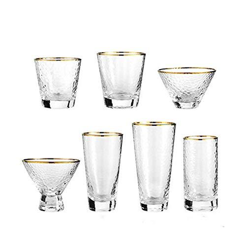 JIASHU Gold Crystal Weingläser, 8er-Set, Trinkglas für Wasser, Saft, Bier, Schnaps Küche und Wohnkultur Bar Dining Beverage Gifts