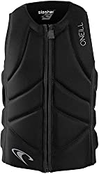 cheap O'Neill Wetsuits Men's Life Jackets Slasher Comp Black Large