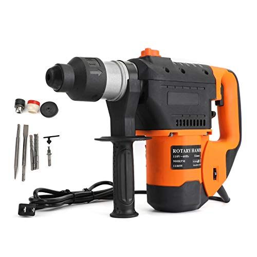 CHENDGE2 1-1/2' SDS Electric Rotary Hammer Drill Plus Demolition Variable Speed w/Bits US