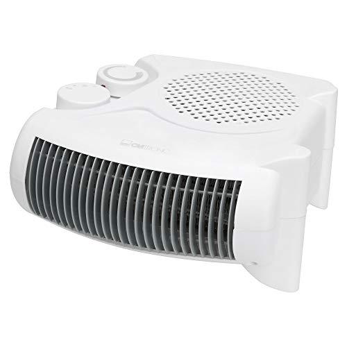 Clatronic HL 3379 Calefactor, 2 niveles de temperatura, función ventilador, 2000 W, Blanco