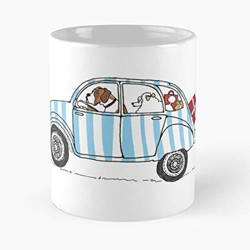 Desconocido Shopping Dog Citroen Poodle Boxer French Car 2Cv Taza de café con Leche 11 oz