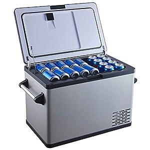 Ausranvik 45 Quart(42 Liter) Black Portable Refrigerator Freezer