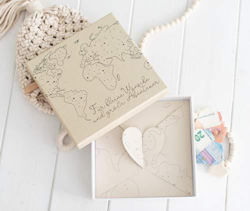 Geldgeschenk - Geld und Gutschein Verpackung zur Hochzeit und Geburtstag - - Abenteuer - Weltreise - Gutschein Verpacken