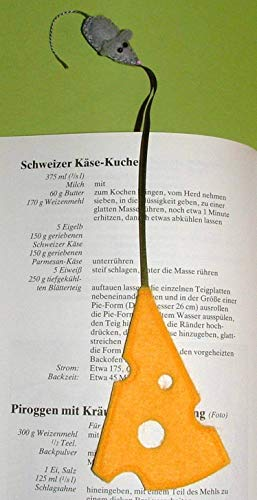 Lesezeichen Maus & Käse aus Filz - 4