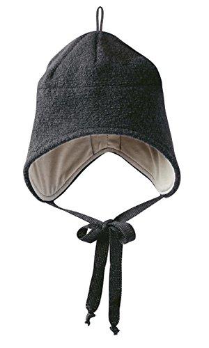 Disana Walk-Mütze 100% bio-Schurwolle/ Futter 100% bio-Baumwolle anthrazit (01 (42 - 46 cm), anthrazit)