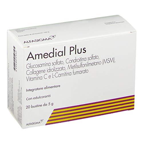 Amedial Plus 60 Bustine (3 Confezioni) - Integratore per Ossa, Cartilagini e Collagene
