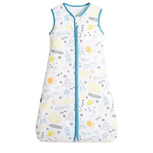 NIDONE Bolso de Dormir del bebé Saco de Manta usable sin Mangas con Cremallera con cremallera1 m