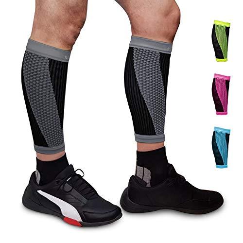 SULUMA® Abbligliamento Sportivo Fasce Compressione per Polpacci Sostegno Sollievo per i Muscoli (Nero, M)