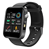 DYCLE Cardieo Smart Watch, Men's and Women's Heart Rate Monitoring Bluetooth Bracelets, 1.54-inch Touch Screen Fitness Tracker,Black