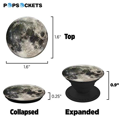 PopSockets: Collapsible Grip & Stand for Phones and Tablets – Moon - 3
