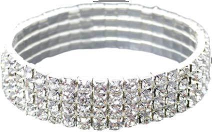 Adriana Lima - Pulsera de 4 filas de cristal de imitación de 4 filas y 4 bandas para tobillo, brillante, diseño de celebridades