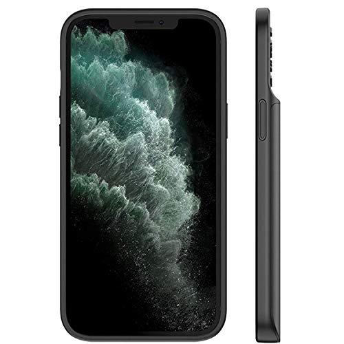 Huije Cover Batteria per iPhone 12 Pro Max 5G [6,7'], 6800 mAh Custodia di ricarica ricaricabile Supporto per batteria estesa Custodia protettiva per caricabatterie di riserva Custodia per power bank
