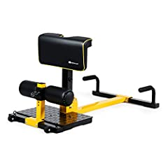 【8-in-1 Multifunctional Body Fitness Trainer】 This 8-in-1 sissy squat provides effective training to exercise your leg muscles and abdomen. Squat exercises is mainly traning your quadriceps and glutes. Except for that, hooks can use with elastic band...