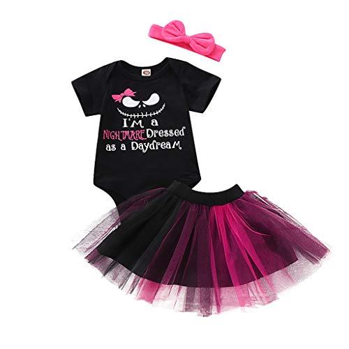 SUCES Newborn Baby Halloween Outfits 2 stücke Tutu Röcke Kostüm Kleidung Set Mädchen Kinder Romper Overalls mit Tüllrock Party Rock Petticoat Babyset Kinderkleidung