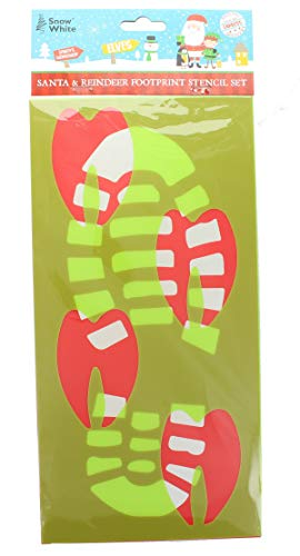 PMS Christmas Santa & Reindeer Footprint Stencil Set Christmas Eve Festive Fun Accessory