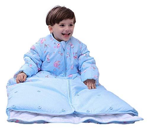 DZHTSWD Winter Baby Sleeping Bag con Manga Larga Desmontable Mantas usables, Saco de Dormir con Longitud Ajustable Manta de Envoltura de bebé, Unisex Bebé Snowsuit con desamparado Liner, 0-2 años