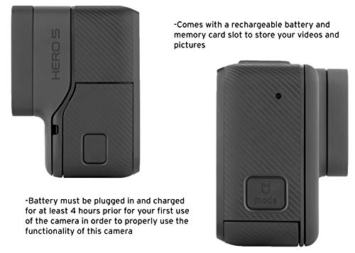 Gopro hero5 black (e-commerce packaging) 4 this product is in manufacturer e-commerce packing (see pictures). The product itself is identical to the one found in retail packaging & it is covered under full standard warranty stunning 4k video and 12mp photos in single, burst and time lapse modes durable by design, hero5 black is waterproof to 33ft (10m) without a housing