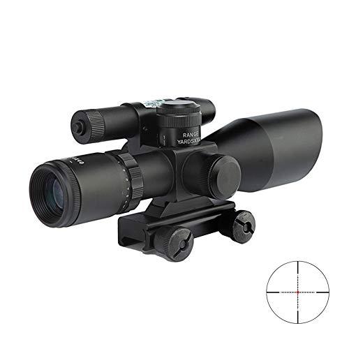 TBDLG Alcance táctico del Rifle, Alcance del Rifle/Alcance óptico Rojo del Rifle con luz de Fondo, bastidores tácticos de Ballesta Airsoft