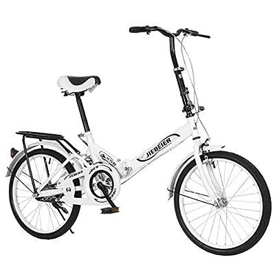 VANP Folding Bike for Women | 20 inch Ultra-Light Portable Women's Commuting City Bike for Adult | US in Stock (White)