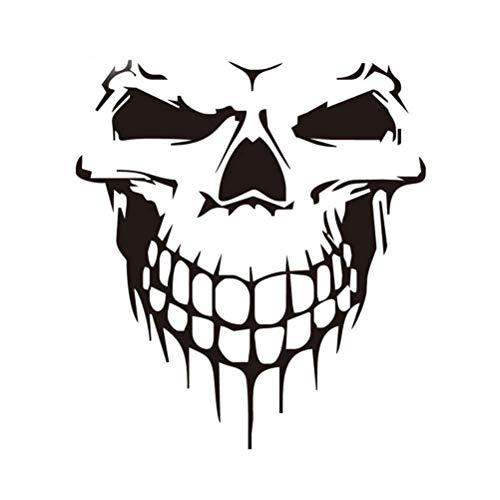 Gaoominy Pegatina De Coche Tatuaje De Calavera Esqueleto De Coche Grande Adhesivo Decorativo (Negro)